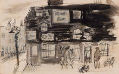 Facade, East of Aldgate Felix Topolski Love Illustration, London Art, Sketching, Facade, Posters, Lettering, Artists, Graphic Design, Street