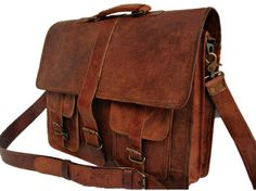 7526d8966d72 Genuine Men's Auth Real Leather Messenger by TrueGritLeather, $120.00 Mk  Purse, Mk Bags,