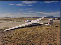 Piloting a sailplane.