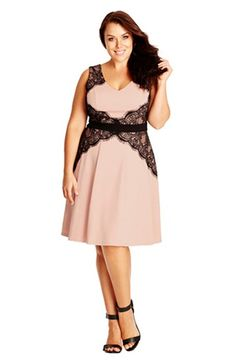 City Chic 'Lace Corset'  Fit & Flare Dress (Plus Size) available at #Nordstrom