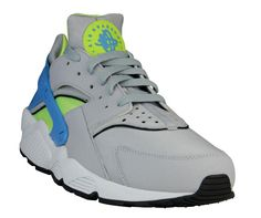 Nike Air Huarache | Wolf Grey, Vivid Blue & Volt <3 used to have these in black & Red LOOVVEE Huarache classics!!