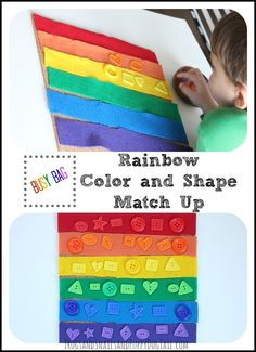 Rainbow Color and Shape Match Up - FSPDT