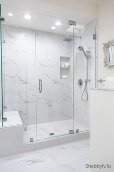 Budget Bathroom Ideas - Luxury Hotel Look Do you dream of a luxury master bathroom in your home? I'm sharing budget bathroom ideas for a luxury hotel look and some tips for cutting costs. Bathroom Remodel Shower, Bathroom Interior Design, Modern Bathroom Design, Bathroom Makeover, Elegant Bathroom, Bathroom Renovations, Luxury Bathroom, Bathroom Decor, Master Bathroom Makeover