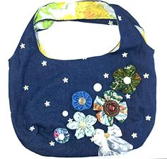 Boho Chic Chambray Hobo Handbag-Gypsy Style Schnazzy Styles Definition Of Unique, Eco Friendly Bags, Hobo Style, Unique Purses, Designer Toys, Reusable Bags, Hobo Handbags, Gypsy Style, Creative Inspiration