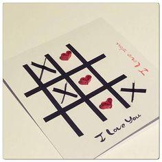 #valentinesday #art #valentinstag #valentinegift #valentinesdaycrafts #tictactoe #noughtsandcrosses #love #lovecards #lovenotes #ashleysmagicmelts #3dcards #3dart