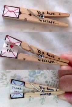 Pinclothes with a message...   how sweet!