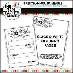 The 3am Teacher: FREE Thanksgiving Coloring Pages