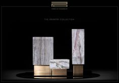 Showcasing refined luxury in every facet of our surroundings, Two Is Company design studio introduces its first integrated collections for lighting and decorative objects, expanding its internation… Greek Design, Custom Furniture, Decorative Objects, Industrial Design, Marble, Place Card Holders, Bronze, Ceramics, Luxury