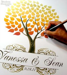 cloud 9 Weddings & Papers: Guest Book Idea: Personalized Prints on Etsy