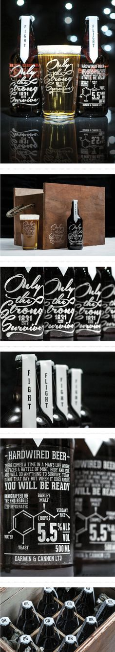 Only The Strong Survive — Hardwired Beer by Craig Black, via Behance