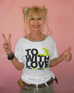"We helped raise 1 million dollars with members of the fashion industry and the CFDA for the Clinton-Bush Haiti Fund with the ""To Haiti With Love T-shirt""!! xox"