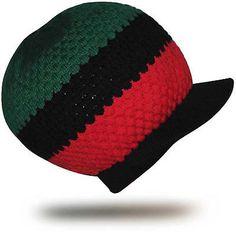 Africa Afro Marcus Rasta Rastafari Hat Cap Dreadlocks Reggae Roots Jamaica M/L