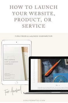 3 Tips to Launch a Website, Product, or Service Creative Business, Business Tips, Online Business, Business Entrepreneur, Entrepreneur Ideas, Instagram Tips, Copywriting, Blogging For Beginners, Social Media Tips