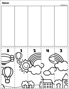 Spring fun cut & match worksheets numbers by prekautism tpt. Shapes Worksheet Kindergarten, Shapes Worksheets, Numbers Kindergarten, Kindergarten Lesson Plans, Kindergarten Math Worksheets, Preschool Education, Preschool Lessons, Preschool Learning, Preschool Activities