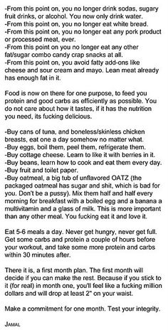 I always wondered what you're supposed to eat if you take out everything in the world! This is mainly for losing weight but still good to know.
