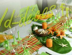 D coration f te d co de table th me iles photos d co for Decoration antillaise