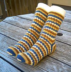 Ravelry: Geek Socks pattern by Wei S. Stitch Patterns, Knitting Patterns, Knitting Socks, Knit Socks, Crazy Socks, Stockinette, Mittens, Ravelry, Cross Stitch