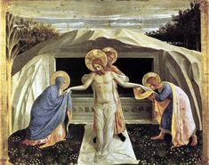 ANGELICO, FRA Vicchio di Mugello, Florencia, 1395 – Roma Entombment of Christ 1438-1440. Tempera on wood. 37,9 x 46,4 cm. Bayerische Staatsgemäldesammlungen, Alte Pinakothek, Munich. 38 a.