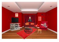 """Analogous"" by alyssabignall on Polyvore featuring interior, interiors, interior design, home, home decor, interior decorating, Monarch, Joybird, Fatboy and C & F"