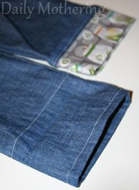 Cloth diaper accommodating baby jeans!