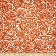 Premier Prints Shiloh Macon Apache Orange Fabric, $7.48 per Yard
