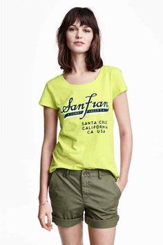 Camiseta estampada de punto | H&M