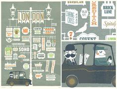 London-centric poster for Pedlars. Design by Jim Datz.