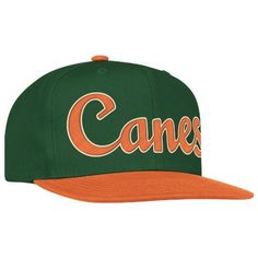 NCAA Miami Hurricanes Logo Snapback Hat, One Size Fits All, Orange/Green adidas. $14.09. Save 30%!