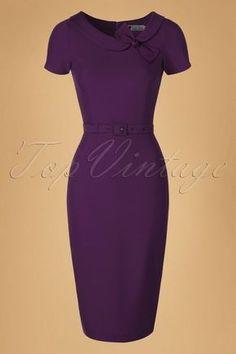 Daisy Dapper Megan Pencil Dress in Purple 19507 20160719 019 Pretty Dresses, Sexy Dresses, Casual Dresses, Fashion Dresses, Short Sleeve Dresses, Dresses For Work, Girl Fashion, Classy Dress, Classy Outfits