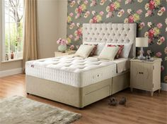 6ft Super King Size Rest Assured Boxgrove Natural Pocket 1400 Divan Set