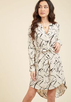 #ModCloth - #ModCloth Do You Coffee? Shirt Dress in Marble in 1X - AdoreWe.com