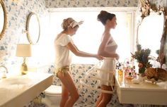 pictures like this of my sister and I getting ready