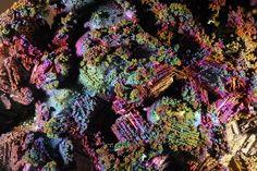 Iridescent Goethite in paramorphs after Gypsum / Hilarion Mine, Prefecture, Greece