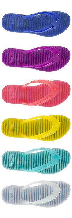 Squishy like a jellyfish, but without the sting. Introducing the Jellyfish Emma flip flop from Sperry. Built for the beach, the Jelly Emma Flip-Flop is lightweight and flexible with a translucent jelly upper and comfortable EVA outsole. Molded skip-lace detailing adds signature Sperry style.
