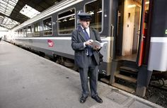 conductor in St Lazare station - 2009