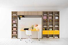 Παιδικές κουκέτες για μικρά δωμάτια Shelving, Loft, Bed, Furniture, Home Decor, Shelves, Decoration Home, Stream Bed, Room Decor