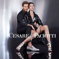 Justice Joslin for Cesare Paciotti Fall Winter 2015.16