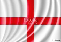 Vector: vector waving flag of england