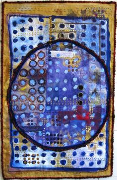 Light of the Moon by Judy Martin @Judith Martin.Watercolor painting based on quilt series.