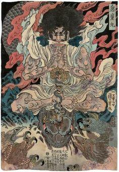 Utagawa Kuniyoshi: Kidômaru and the Tengu - Museum of Fine Arts