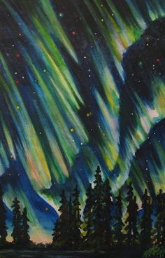 Northern Lights V: original Aurora-inspired art by Robin Street-