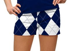0021618fe Womens Navy & White Argyle Made To Order Mini Shorts by Loudmouth Golf. Buy  it @ ReadyGolf.com