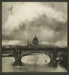 St Paul's Cathedral and Waterloo Bridge, London c. 1900-1909 by Alvin Langdon Coburn