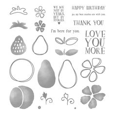 Fresh Fruit Photopolymer Stamp Set by Stampin' Up!
