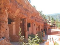 Cliff dwellings at Manitou Springs, Colorado. Native peoples inhabited them.