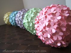 178 Best Flower Balls Images Artificial Flowers Crepe Paper