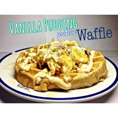 Ripped Recipes - Vanilla Pudding Protein Waffle  - A moist, fluffy tasteful waffle, with added protein!