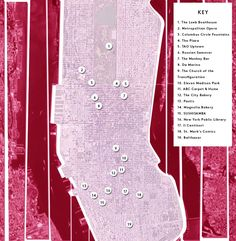The Sex And The City Relationship Map Of New York City  #refinery29  http://www.refinery29.com/worst-break-ups-satc