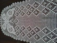 caminho de mesa de croche linha branca clea 1000