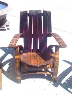 Wine Barrel Adirondak Chair